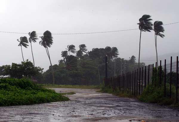 Полинезия. Надвигающийся циклон на Таити. Фото: AFP/Getty Images