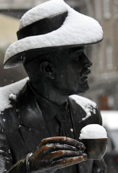 Зимние мотивы. Фото: SERGEY SUPINSKY/AFP/Getty Images
