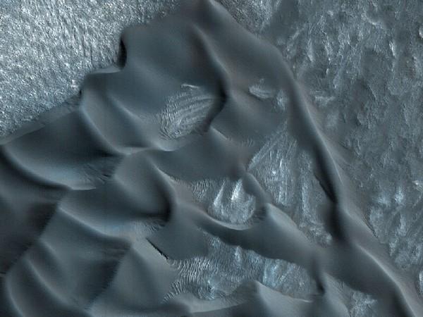 Дюны на Марсе. Фото: NASA/JPL/University of Arizona