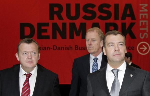 Дмитрий Медведев побывал на российско-датском бизнес-форуме. Фото: DMITRY ASTAKHOV/AFP/Getty Images