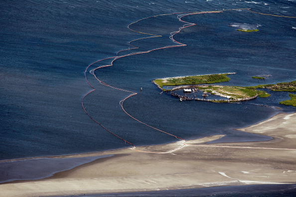 Утечка нефти в Мексиканском заливе из поврежденной буровой скважины продолжается. Нефть уже дошла до берегов штата Луизианы.  Специалисты ищут новые способы предотвратить экологическую катастрофу. Фото: Joe Raedle/Getty Images