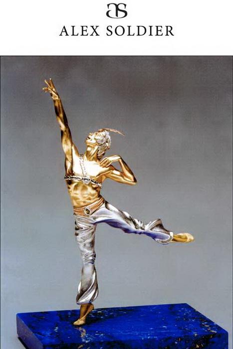 «Рудольф Нуриев», скульптурная миниатюра. Алекс Солджер.Фото предоставлено Алексом Солджером