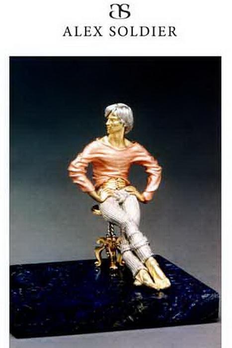 «Отдыхающий Нуриев», скульптурная миниатюра. Алекс Солджер.Фото предоставлено Алексом Солджером