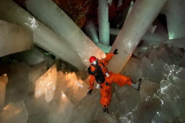Огромные кристаллы достигают 15 м в длину и 1,5 м в диаметре. Весят такие великаны более 55 тонн. Фото с сайта  bigpicture.ru