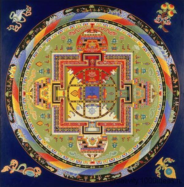 Тибетское искусство песчаных мандал. Фото с сайта: creativity.1000ideas.ru