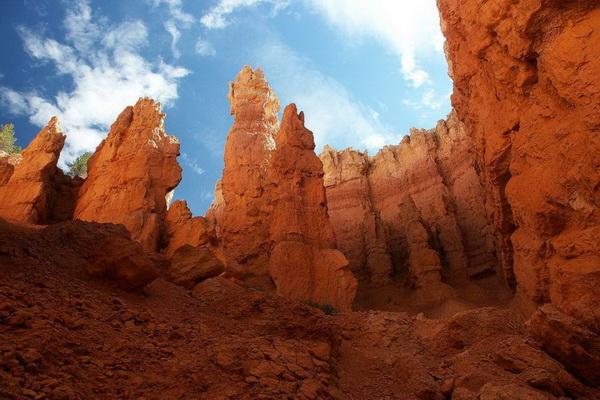 На дне Брайс-Каньона - природный амфитеатр из разноцветных горных пород. Фото: Джейсон Сэмпсон
