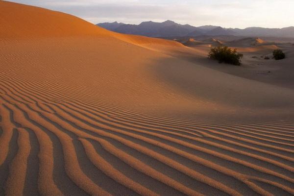 Долина смерти в Калифорнии. Средняя температура здесь в июле достигает 46°C, ночью опускается до 31°C. В 1913 году здесь была зафиксирована самая высокая температура в западном полушарии — 56,7 °C , что лишь немного уступает мировому рекорду температур, 58 °C, зафиксированному в Ливийской пустыне 13 сентября 1922 года. Географические названия этой местности говорят сами за себя: Гиблый распадок, ущелье Мертвецов, Гробовой каньон, колодец Отрава, горловина Самоубийц, Дантова площадка, пик Похоронный. Фото: Джейсон Сэмпсон