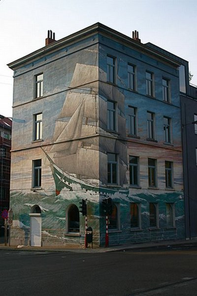 3D рисунки на домах. Фото:copypast.ru
