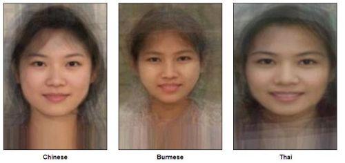 «Стандартное лицо»  Китая, Бирмы, Таиланда (слева направо). Фото:  sohu.com