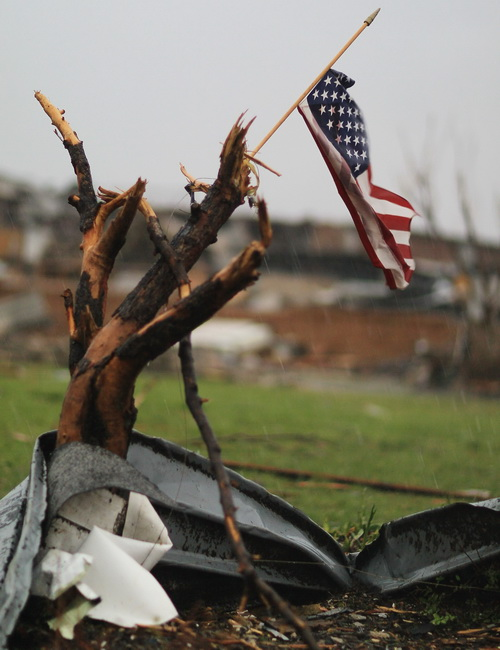 США. Последствия торнадо. Фото: Joe Reedie/Getty Images News