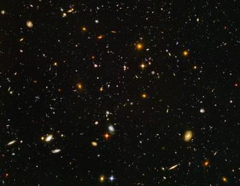 Cкопление галактик во Вселенной. Фото: Nasa/Getty Images News