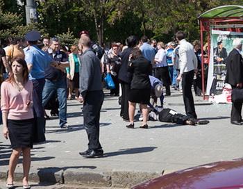 Двадцать два человека остаются в больницах после взрывов в Днепропетровске. Фото: AFP/Getty Images