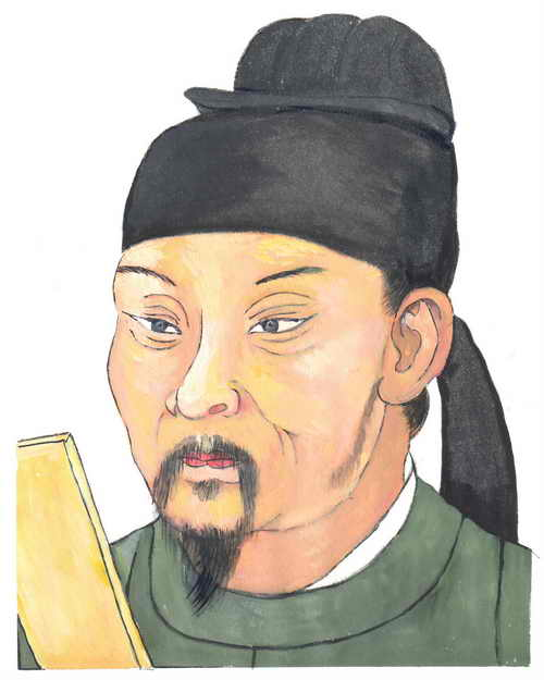 Ду Фу - мудрый поэт династии Тан. Иллюстрация: Kiyoka Chu/Великая Эпоха (The Epoch Times)