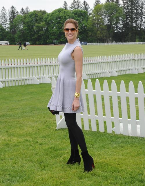 Модель Стефани Сеймур на благотворительном турнире по поло с участием принца Гарри в Гринвиче. Фото: Jamie McCarthy/Getty Images