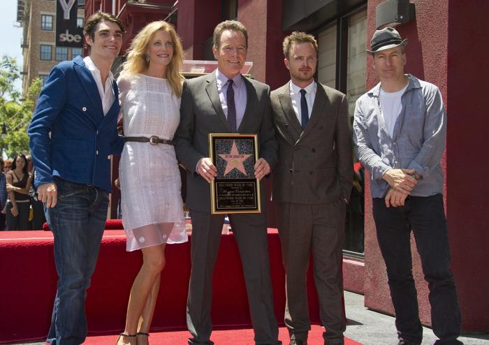 Брайан Крэнстон получил именную звезду на голливудской Аллее Славы 16 июля 2013 года. Фото: ROBYN BECK/AFP/Getty Images