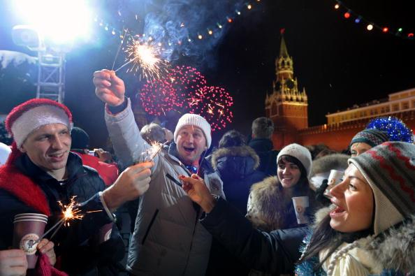Мир встретил Новый год. Фото: DMITRY KOSTYUKOV/AFP/Getty Images