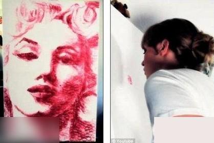 Картины можно рисовать губами. Фото с kanzhongguo.com