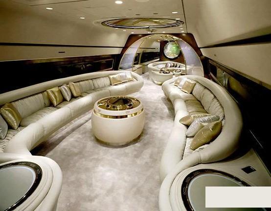 Роскошные интереры частных самолетов. Фото с kanzhongguo.com