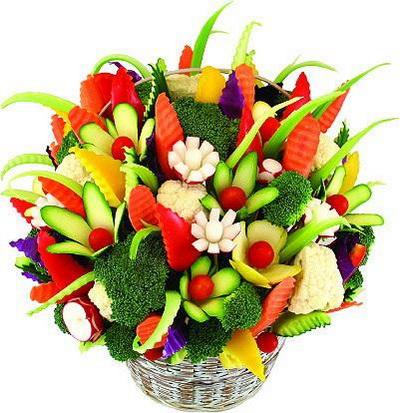 Композиция из фруктов и овощей. Фото с сайта animalworld.com.ua