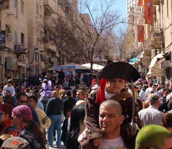 Иерусалим празднует Пурим. Фото: Хава ТОР/Великая Эпоха