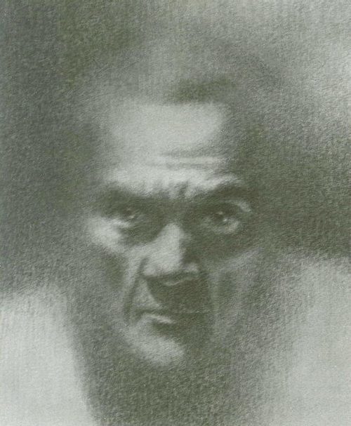 Старый человек, рисунок