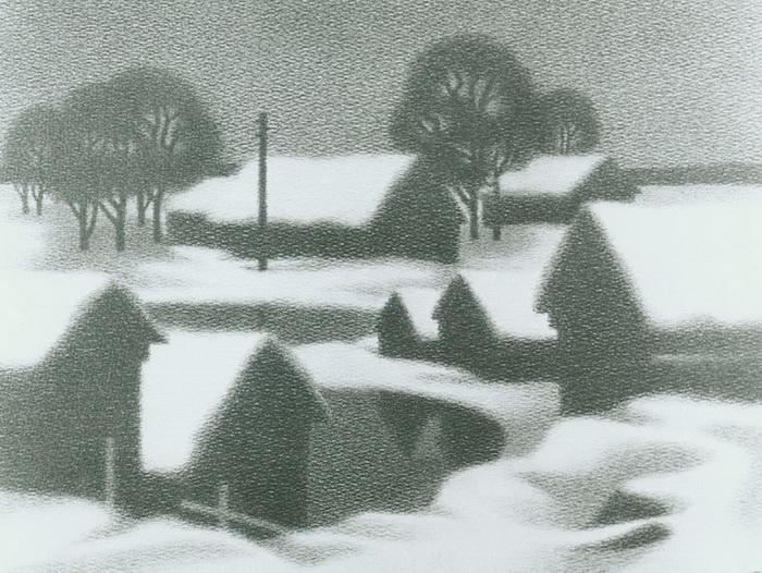 Деревня, рисунок