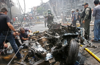 Российские туристы не пострадали в результате взрыва в Таиланде. Фото: MUHAMMAD SABRI/AFP/Getty Images