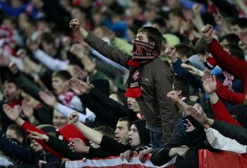 Более 150 фанатов задержаны после матча «Спартак» – «Зенит». Фото: Dmitry Korotayev/Epsilon/Getty Images