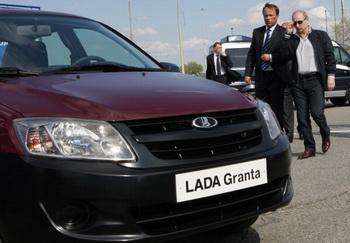 Lada Granta с автоматической коробкой передач поступит на Российский рынок осенью. Фото: VLADIMIR RODIONOV/AFP/Getty Images