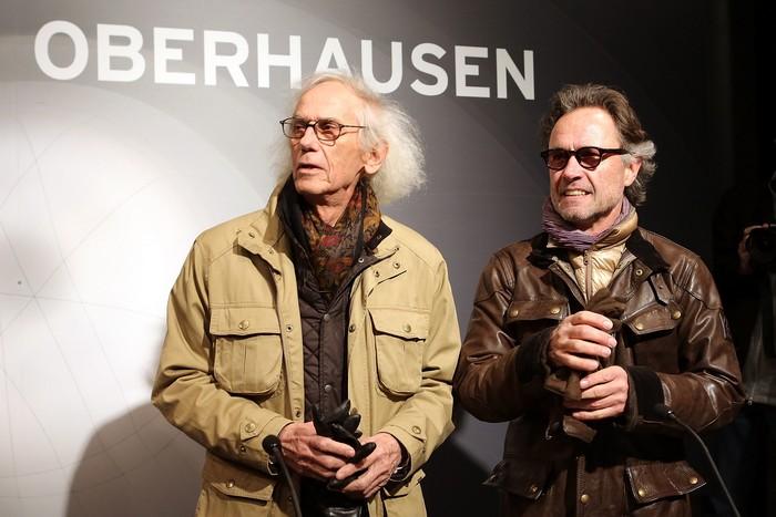 Скульптор и художник Христо представил новую большую инсталляцию в газометре, в городе Оберхаузен на западе Германии 15 марта. Фото: Hannelore Foerster/Getty Images