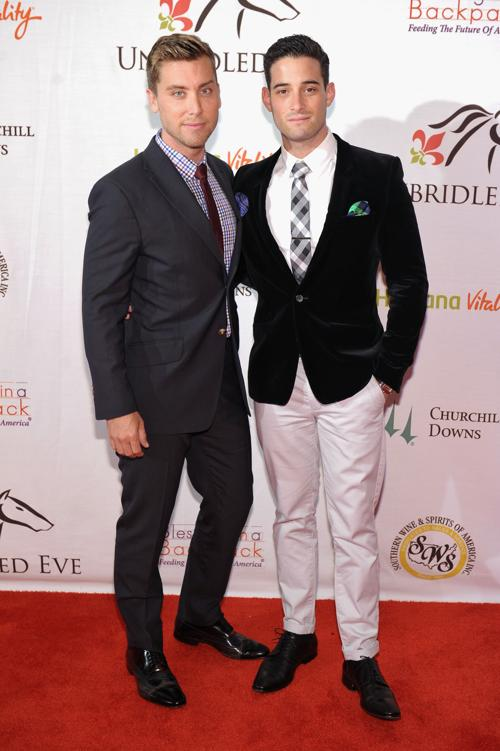 Ланс Басс и Майкл Турчин на праздничном вечере в преддверии 139 скачек Дерби-Кентукки 3 мая 2013 года. Фото: Michael Loccisano/Getty Images for York Sisters, LLC