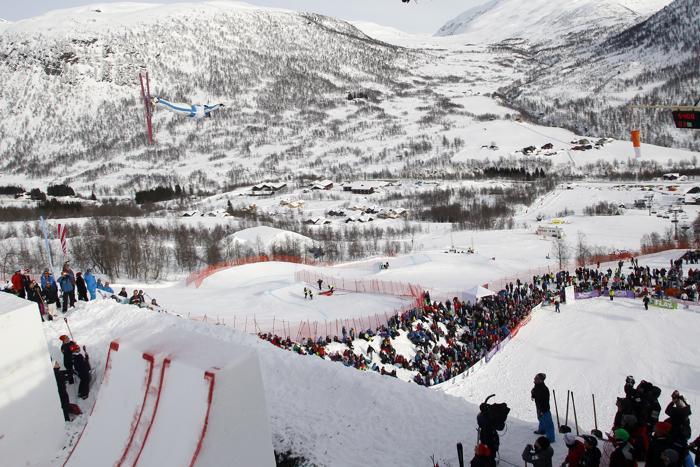 На чемпионате мира по фристайлу в Норвегии. Фото: Alexis Boichard/Agence Zoom/Getty Images