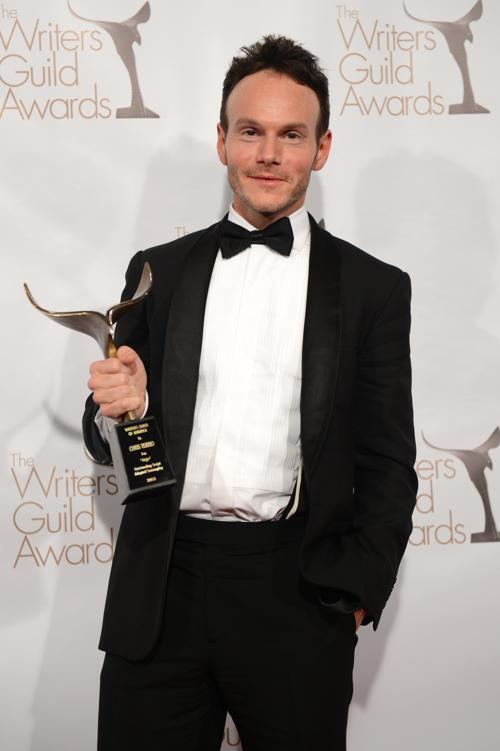 Писатель Крисс Террио на вручении премии Гильдии писателей США. Фото: Jason Kempin/Getty Images for WGAw