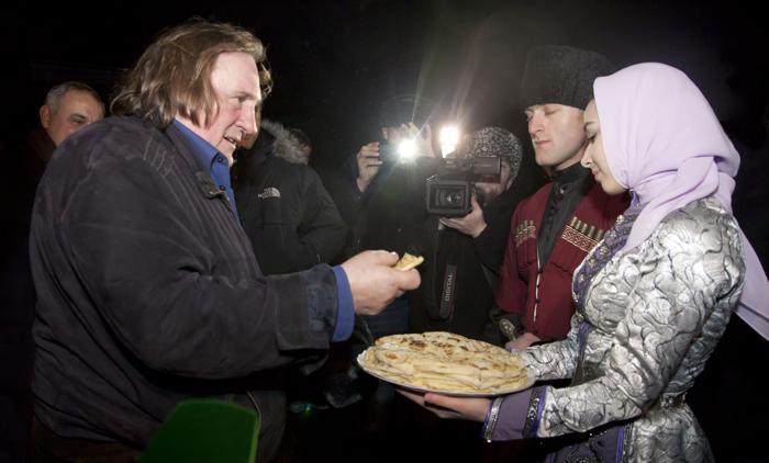 Жерар Депардье прибыл в Грозный. Фото: ELENA FITKULINA/AFP/Getty Images