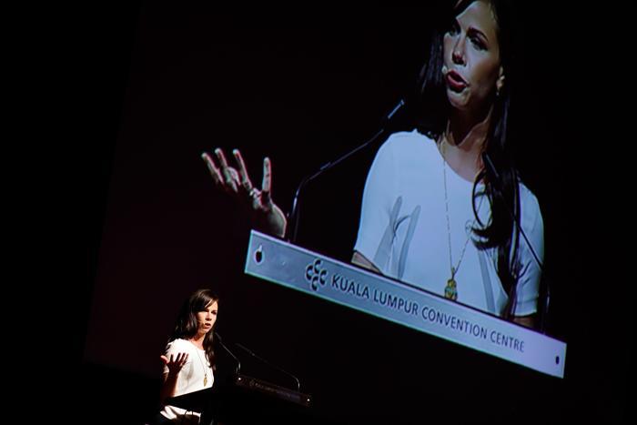 Барбара Буш на международной конференции по проблеме женщин и девочек в Малайзии. Фото: Rahman Roslan/Getty Images