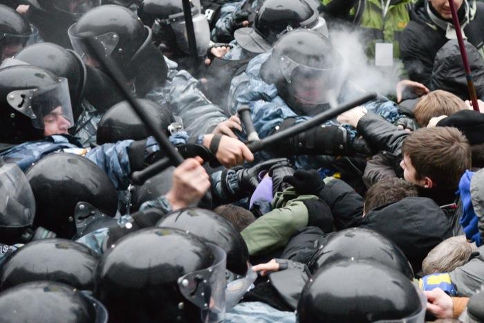 Массовые протесты на Украине из-за решения правительства заморозить переговоры о вступлении в Евросоюз. Фото: Фёдор Треногов