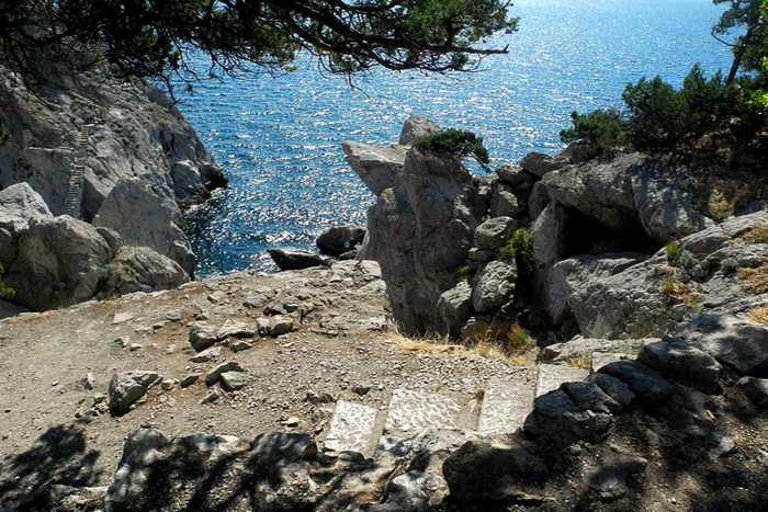 Симеиз. Начало спуска к скале Дива. Фото: Алла Лавриненко/Великая Эпоха (The Epoch Times)