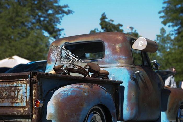 Рет-род гоночный пикап1949 года. Оттава, штат Канзас, автошоу, 21 сентября 2013 года. Фото: Cat Rooney/Великая Эпоха (The Epoch Times)