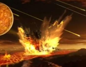 Графическая иллюстрация теории о том, что золото прибыло из космоса. Фото: Screenshot /YouTube
