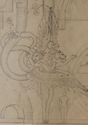 Рисунок инопланетянина, нарисованный Даниэлем Кристиансеном (Daniel Christiansen). Чертежи Кристиансена вместе с другими документами были найдены в деревянном ящике в мусоре. Эти документы были написаны в период с1930-х до 1980-х гг. Фото: Imgur.com
