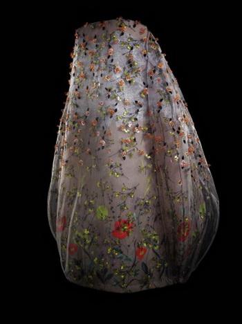 Вечернее платье из тюля с вышивкой в виде тысячелистника. Коллекция весна-лето 2013, Раф Симонс, дом моды Кристиана Диора. Фото: Laziz Hamani