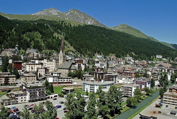 Давос — город в восточной Швейцарии. Фото: MadGeographer/commons.wikimedia.org