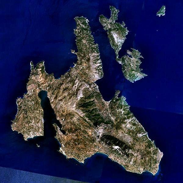 Остров Кефалония. Фото: NASA/commons.wikimedia.org