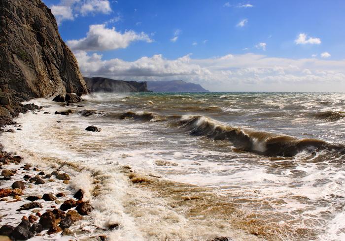 Море штормит. Фото: Ирина Рудская/Великая Эпоха (The Epoch Times)
