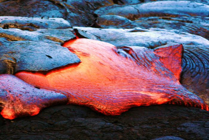 Вулканическая лава. Фото: morguefile.com