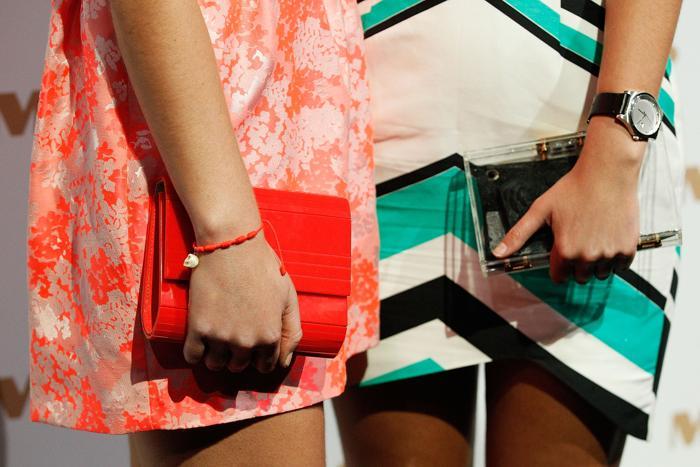 Австралийские звёзды продемонстрировали модные аксессуары на показе новой коллекции от Myer 8 августа 2013 года в Сиднее. Фото: Brendon Thorne/Getty Images