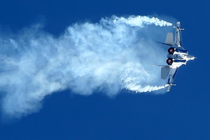 Российский истребитель Миг-29 ОВТ на открытии Международного авиационно-космического салона МАКС-2013 в Жуковском 27 августа 2013 года. Фото: KIRILL KUDRYAVTSEV/AFP/Getty Images