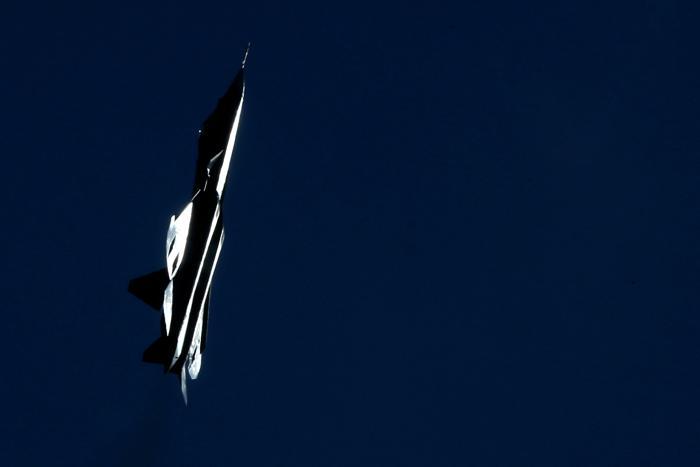 Российский стелс-истребитель Т-50 выступил на открытии Международного авиационно-космического салона МАКС-2013 в Жуковском 27 августа 2013 года. Фото: KIRILL KUDRYAVTSEV/AFP/Getty Images