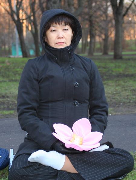 Пикет у посольства Китая. Фото: Светлана Ким/Великая Эпоха.