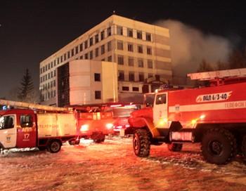 Пожар в развлекательном комплексе «Рок-Сити» в Рязани. Фото с rzn.info